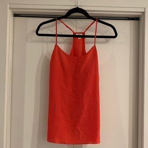 J.Crew Womens Red Blouse 2 Cami Silk Shirt